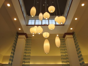 LED Lights in the Hotel Lobby