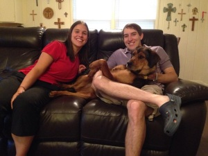 Pastors Amanda & Jeremy and their dog Lola