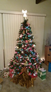 Our beautiful (and on a budget) Christmas Tree. Merry Christmas from Allison and me!