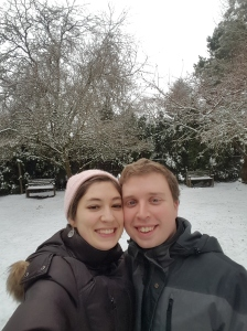 Happy New Year's from Allison and me in surprisingly Snowy Washington