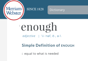 websters-dictionary-enough